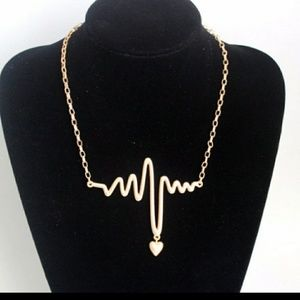 Jewelry - LARGE EKG HEARTBEAT NECKLACE